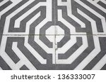 celtic spiral painted on the... | Shutterstock . vector #136333007