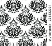 vector damask pattern | Shutterstock .eps vector #136333334