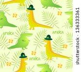cartoon crocodiles seamless... | Shutterstock .eps vector #136333361