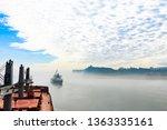 morning fog over columbia river ... | Shutterstock . vector #1363335161