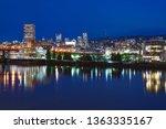night panorama of portland ... | Shutterstock . vector #1363335167