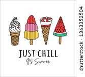 vector ice cream illustrations  ... | Shutterstock .eps vector #1363352504