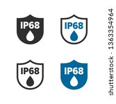 ip68 protection standard icon | Shutterstock .eps vector #1363354964