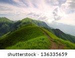 wugong mountain in jiangxi ... | Shutterstock . vector #136335659
