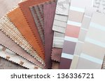 upholstery tapestry color... | Shutterstock . vector #136336721
