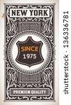 vector. vintage design | Shutterstock .eps vector #136336781