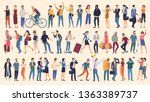 set of vector ready to... | Shutterstock .eps vector #1363389737