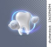 realistic 3d tooth with calcium ... | Shutterstock .eps vector #1363396094
