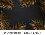Golden Painted Date Palm Leaves ...