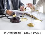 businesswoman and male lawyer... | Shutterstock . vector #1363419317