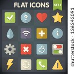 universal flat icons for web... | Shutterstock .eps vector #136342091