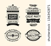 set of wedding stamps | Shutterstock . vector #136342871