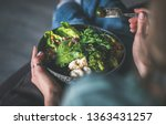 healthy dinner or lunch at home.... | Shutterstock . vector #1363431257