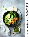 detox buddha bowl with avocado  ... | Shutterstock . vector #1363432424