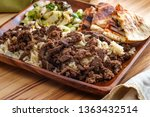 authentic middle eastern veal... | Shutterstock . vector #1363432514