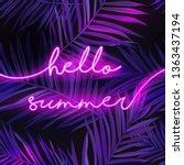 hello summer typography banner... | Shutterstock .eps vector #1363437194