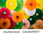 Colorful paper decoration on...