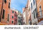 riomaggiore street  cinque... | Shutterstock . vector #136345607
