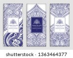 white and blue vector packaging ... | Shutterstock .eps vector #1363464377