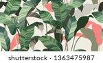 summer seamless pattern. green...   Shutterstock .eps vector #1363475987