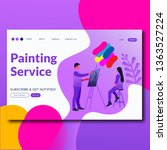 painting service  flat style... | Shutterstock .eps vector #1363527224
