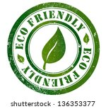eco friendly grunge stamp  in... | Shutterstock . vector #136353377