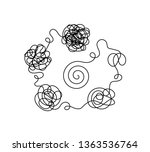 line of messy clew symbols line ... | Shutterstock .eps vector #1363536764
