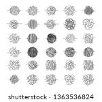 set of chaos clews hand drawn... | Shutterstock .eps vector #1363536824
