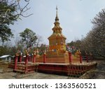architecture in thai temples ... | Shutterstock . vector #1363560521