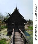 architecture in thai temples ... | Shutterstock . vector #1363560614