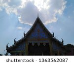 architecture in thai temples ... | Shutterstock . vector #1363562087
