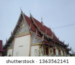 architecture in thai temples ... | Shutterstock . vector #1363562141