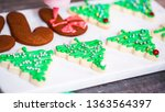 step by step. decorating... | Shutterstock . vector #1363564397