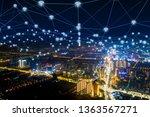 modern city with wireless... | Shutterstock . vector #1363567271