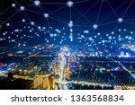 modern city with wireless... | Shutterstock . vector #1363568834