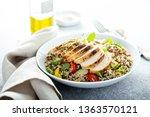 fresh quinoa tabbouleh salad...   Shutterstock . vector #1363570121