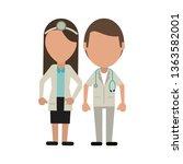 medical teamwork avatar   Shutterstock .eps vector #1363582001
