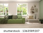 stylish room in white color... | Shutterstock . vector #1363589207