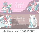 bridal shower invitation vector ...   Shutterstock .eps vector #1363590851