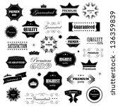 vintage design elements. labels ... | Shutterstock .eps vector #136359839