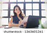 portrait of beautiful asian...   Shutterstock . vector #1363601261
