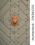 decoration door knocker | Shutterstock . vector #136361231