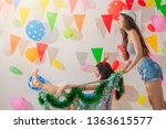expressions of happy emotions... | Shutterstock . vector #1363615577