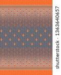 textured fabric flower of...   Shutterstock . vector #1363640657