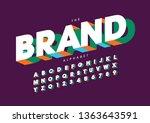 vector of stylized modern font...   Shutterstock .eps vector #1363643591