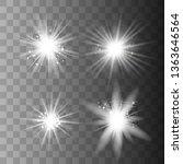 glowing lights effect  flare ...   Shutterstock .eps vector #1363646564