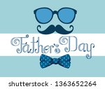 card with glasses and tie bow... | Shutterstock .eps vector #1363652264