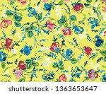flower pattern art illustration ... | Shutterstock . vector #1363653647