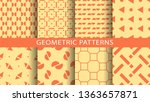 a set of geometric patterns | Shutterstock .eps vector #1363657871