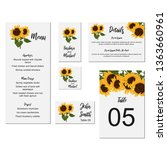 Set Of Floral Wedding Kit With...